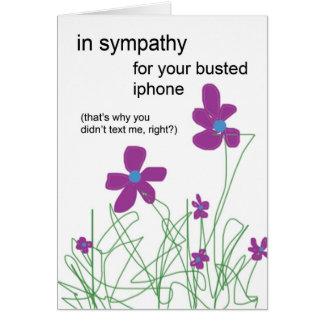 Cartão Na simpatia para seu Iphone rebentado