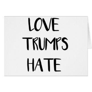 Cartão Nação de inspiração do ódio dos trunfos do amor