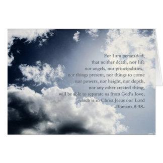 Cartão Nada pode separar-nos do amor do deus, hospício,