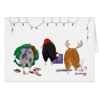Cartão Nada termina um Natal de Sheltie