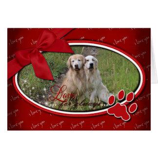 Cartão Namorados - amor para sempre - golden retriever