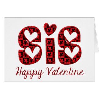 Cartão Namorados bonitos da tipografia do Cupido do Sis