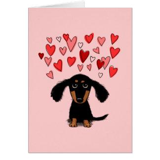 Cartão Namorados bonitos do filhote de cachorro do