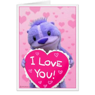 Cartão Namorados bonitos super do Chipmunk