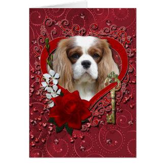 Cartão Namorados - chave a meu coração - Cavalier - luz