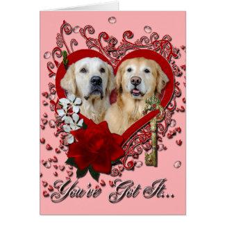 Cartão Namorados - chave a minha corona Tebow dos ouros