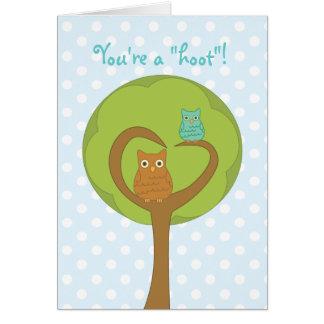 Cartão Namorados da coruja