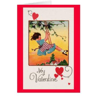 Cartão Namorados de balanço