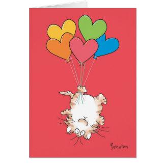 Cartão Namorados DE CABEÇA PARA BAIXO do CAT por Boynton