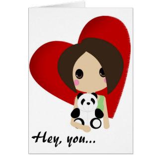 Cartão Namorados de Cutie Kali