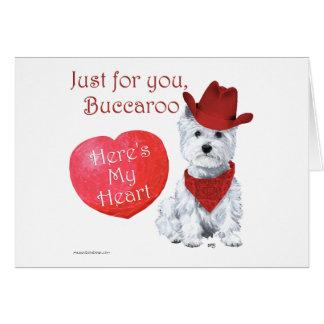 Cartão Namorados de Terrier branco de montanhas