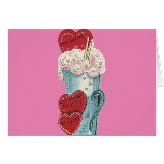 Cartão Namorados do batido do vintage