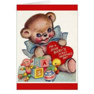 Cartão Namorados do bebê do dia dos namorados | do