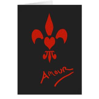 Cartão Namorados do caso amoroso do coração da flor de