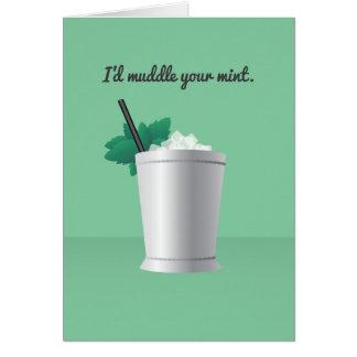 Cartão Namorados do cocktail: Eu atrapalharia sua hortelã