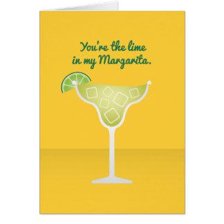 Cartão Namorados do cocktail: O limão em minha Margarita