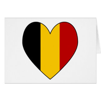 Cartão Namorados do coração da bandeira de Bélgica