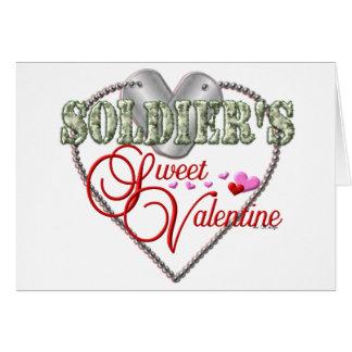 Cartão Namorados do doce dos soldados