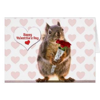 Cartão Namorados do esquilo