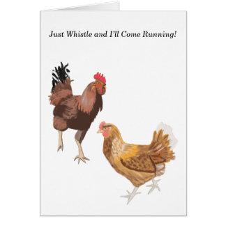 Cartão Namorados do galo novo e da galinha