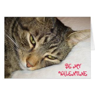 Cartão Namorados do gato malhado