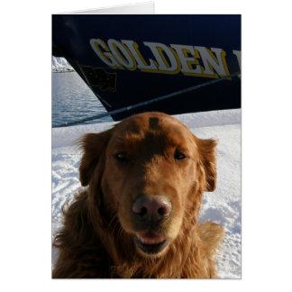 Cartão Namorados do golden retriever