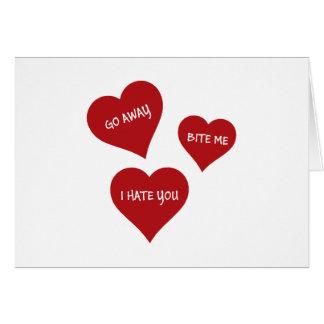 Cartão Namorados do ódio
