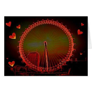 Cartão Namorados do olho de Londres