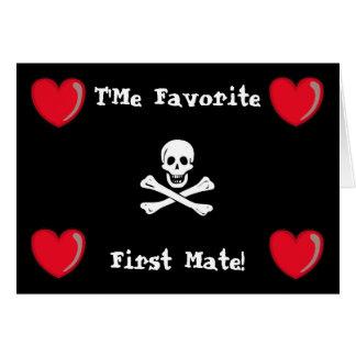 Cartão Namorados do pirata