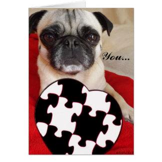 Cartão Namorados do Pug
