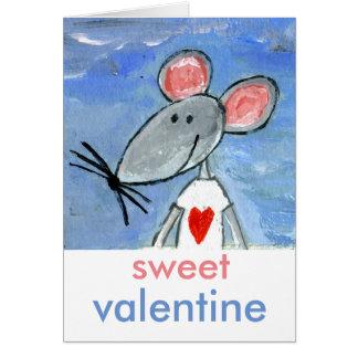 Cartão Namorados do rato do amor