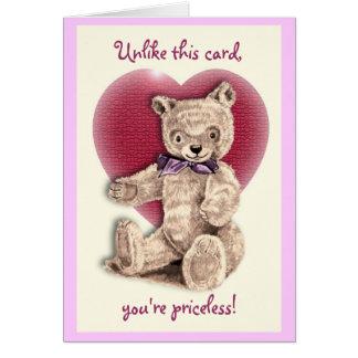 Cartão Namorados do urso de ursinho