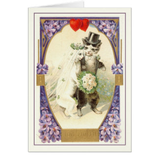 Cartão Namorados do vintage