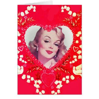 Cartão Namorados do vintage da notícia bombástica do