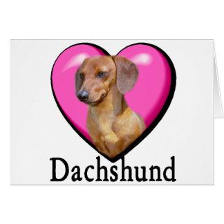 Cartão Namorados dos amantes do Dachshund