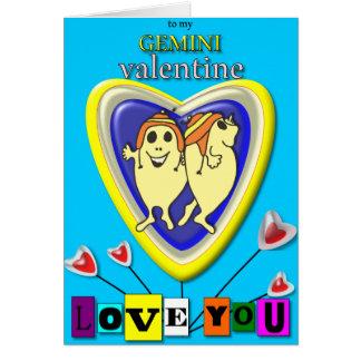 Cartão Namorados dos Gêmeos/cartão do zodíaco