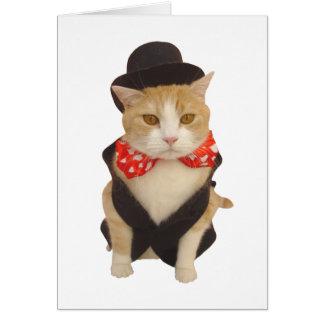 Cartão Namorados engraçados do gato