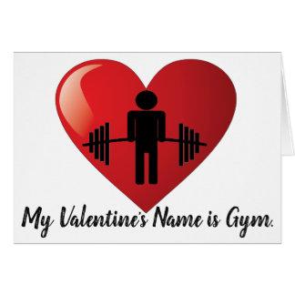 Cartão Namorados engraçados do Gym da malhação