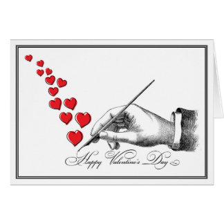 Cartão Namorados escritos à mão