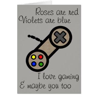 Cartão Namorados: Eu amo-o o jogo &