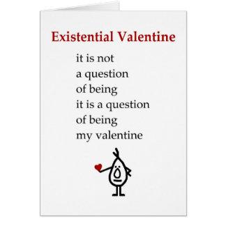 Cartão Namorados existenciais - um poema engraçado dos