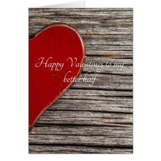 Cartão Namorados felizes a minha melhor metade