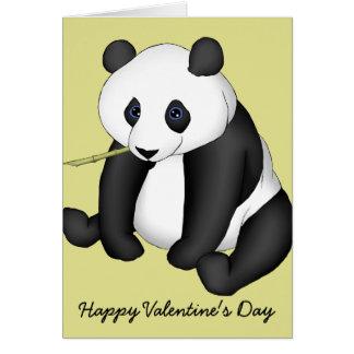 Cartão Namorados felizes da panda de Beary