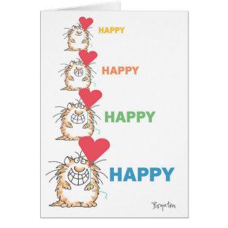 Cartão Namorados FELIZES FELIZES do CAT por Boynton