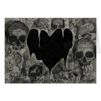 Cartão Namorados góticos do coração desolado