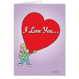 Cartão Namorados grandes engraçados do amor