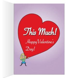 Cartão Namorados grandes engraçados do amor para ele