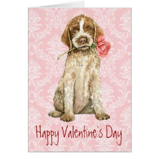 Cartão Namorados Griffon cor-de-rosa