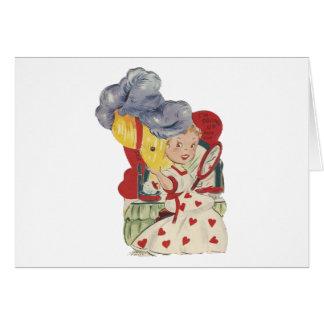 Cartão Namorados (mecânicos) do Belle do molho do vintage
