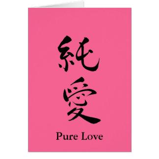 Cartão Namorados puros do amor